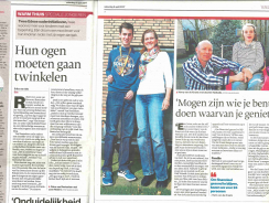 Artikel in De Gelderlander 8 april 2017